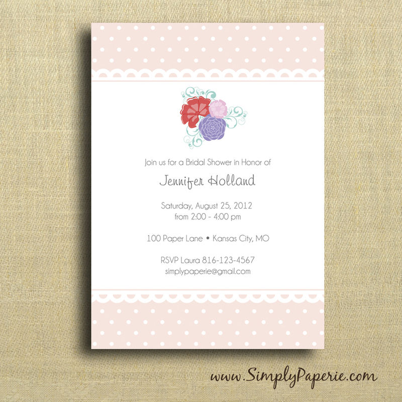 Garden Party Shower Invitation - product images