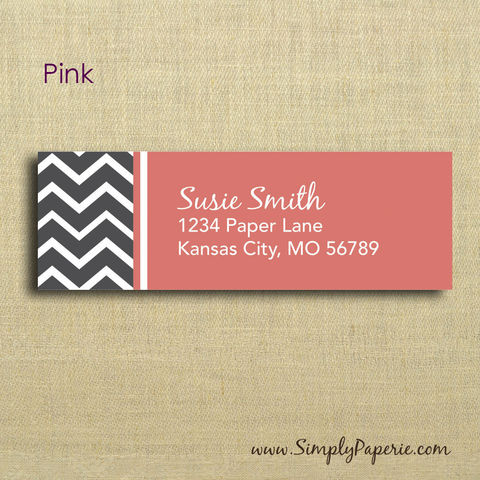 Grey,Chevron,Return,Address,Labels,Address Label, Return address sticker, label, Sticker, address, grey, pink, salmon, coral, slate, chevron, wedding, modern, geometric