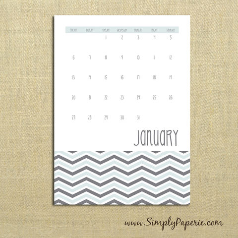 2013,Chevron,Calendar,Paper Goods, Calendar, Wall Calendar, chevron, trendy, grey, pink, coral, peach, lime green, grey blue, 2013, monthly calendar, desk calendar, The Artisan Group