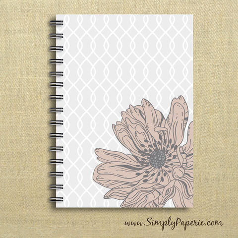 Grey,Floral,Weekly,Planner,Weekly Planner, Calendar, month, monthly, academic, year, school, planner, 2012, 2013, grey, light pink, dusty rose, floral, gate pattern, flower, light grey, sophisticated, femenine, The Artisan Group