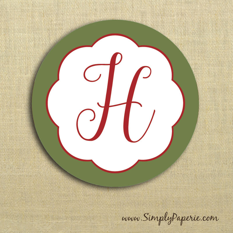 Holiday in Bloom Gift Tag Stickers - product images