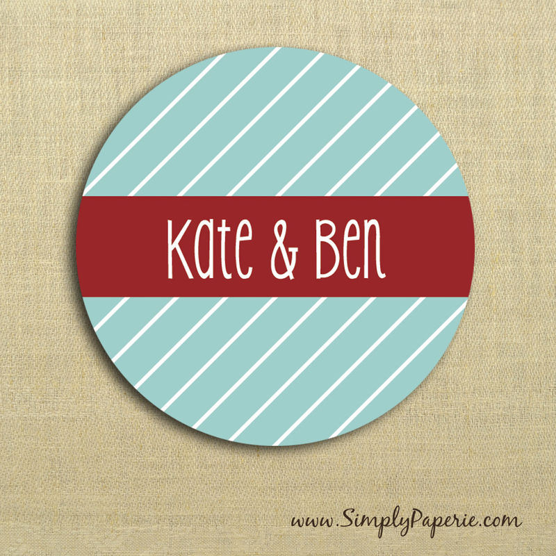 Diagonal Stripes Gift Tag Stickers - product images  of