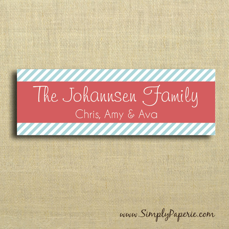 Modern Striped Gift Tag Stickers - product images  of