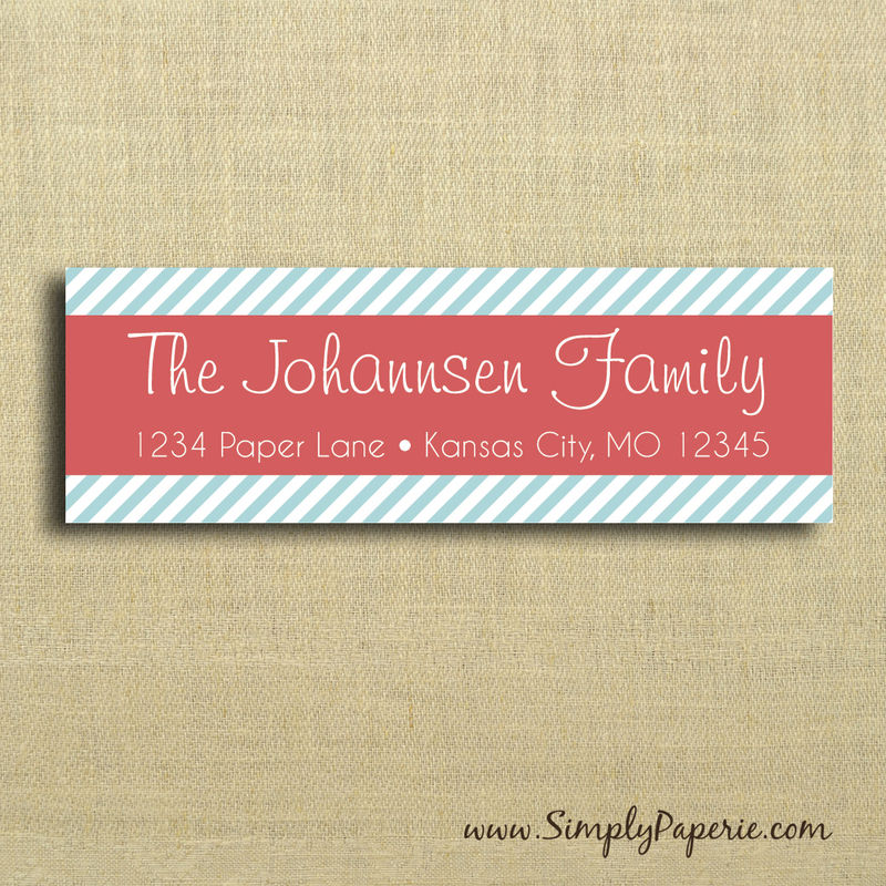 Modern Striped Return Address Labels - product images  of