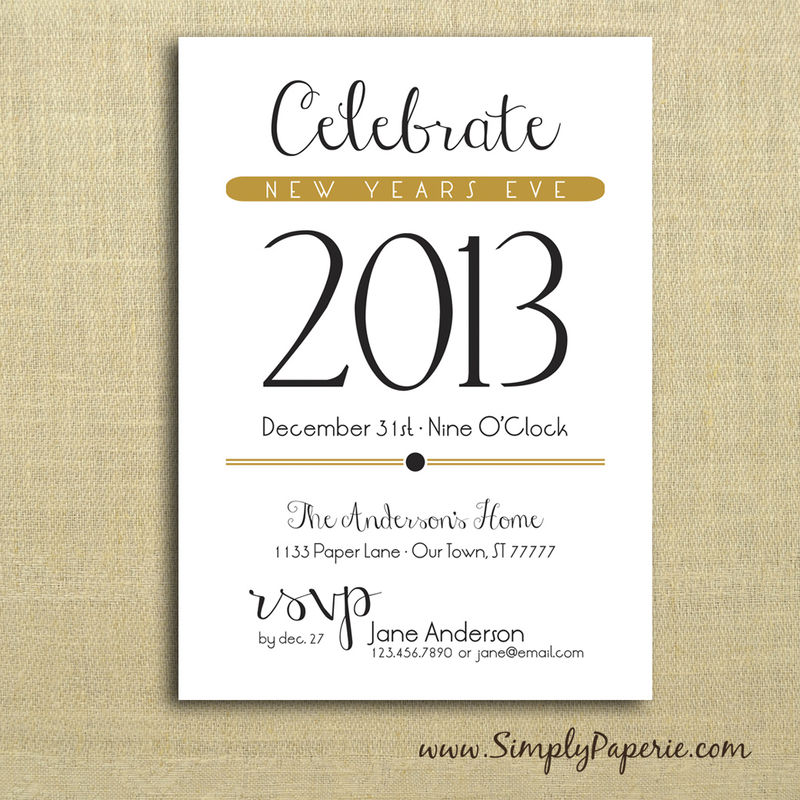 celebrate new year party invitations - simply paperie, Party invitations