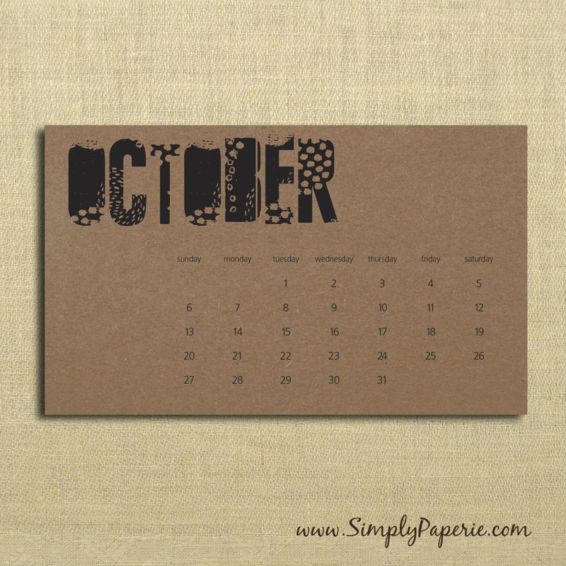 Calendar Typography Gear : Black and kraft typography calendar simply paperie