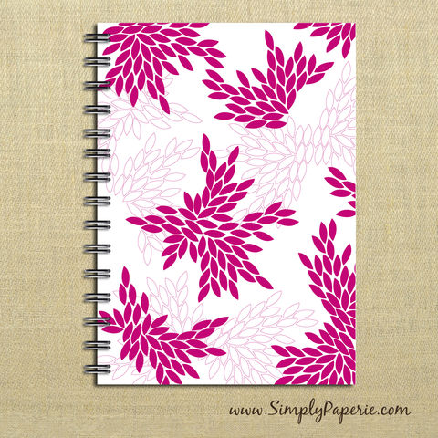 Pink,Petals,Weekly,Planner,Weekly Planner, Calendar, month, monthly, academic, year, school, planner, 2012, 2013, trendy, modern, The Artisan Group, journal, notebook, book, hot pink, bright pink, neon pink, petal, geometric print, floral, flower, color pop, 2014