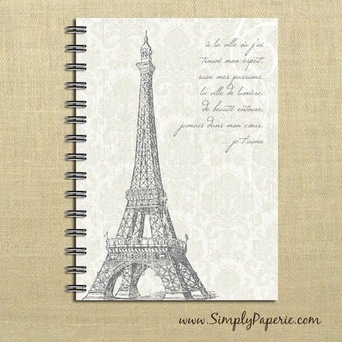Shabby,Chic,Eiffel,Tower,Weekly,Planner,Weekly Planner, Calendar, month, monthly, academic, year, school, planner, 2012, 2013, shabby chic, French, France, Eiffle Tower, damask, worn, weathered, aged, country, off white, tan, quote, poem, The Artisan Group, journal, notebook, book, 2014