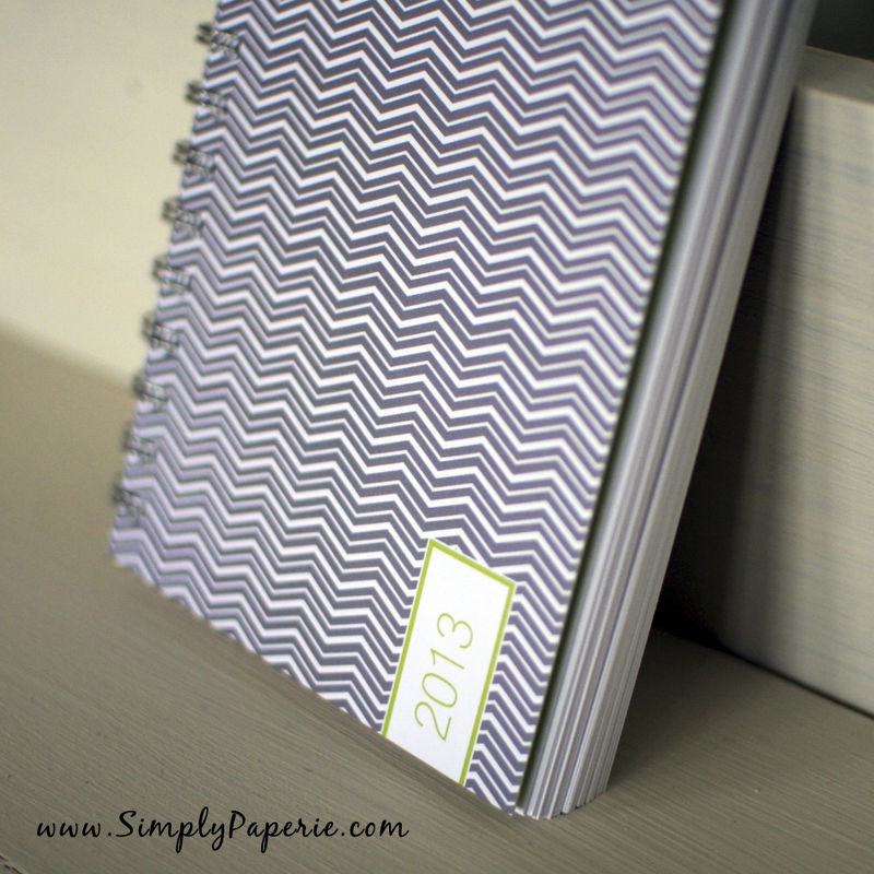 Grey/Green Chevron Weekly Planner - product images  of