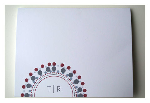 Concentric,Circles,and,Dots,Monogram,Personal,Note,Set,Paper_Goods,Stationery,concentric_circles,pattern,note_cards,monogram,red,gray,the_artisan_group,sparetire_design,personalized,stationery,personal_notes,set_of_cards,Quality_paper,linen_paper,crest_paper,felt_paper