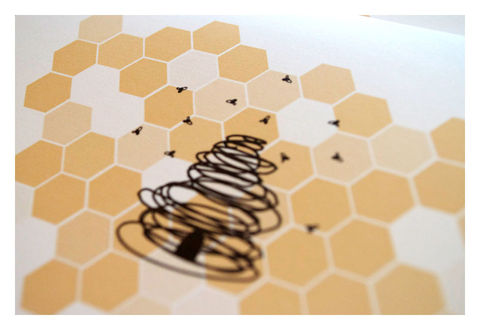 Designer,Honey,Bee,Stationery,Note,Card,Set,Paper_Goods,personal_stationery,note_cards,stationery_set,honey_bees,bees,hive,hand_drawn,yellow,black,sparetire_design,etsy,everyday_stationery,The_Artisan_Group