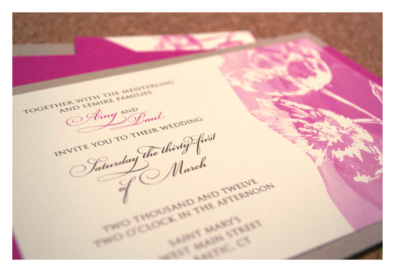 Romantic Spring Wedding Invitations with Tulip Watercolor - product images  of