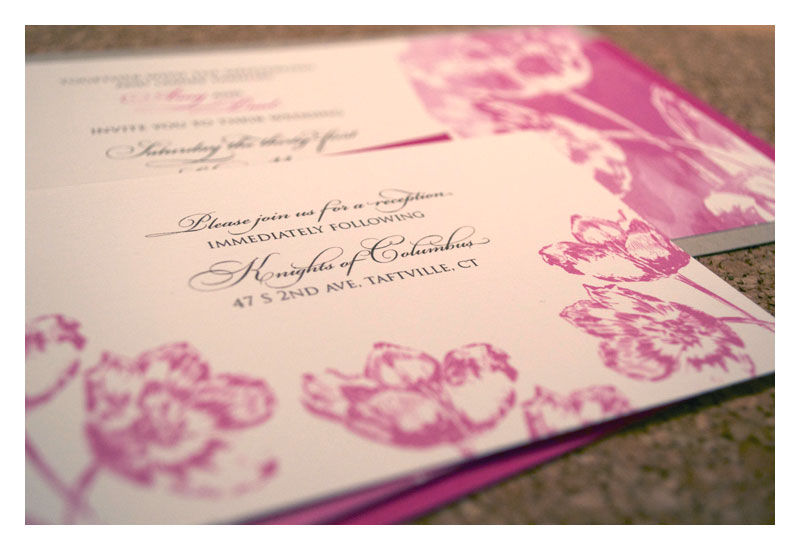 Romantic Spring Wedding Invitations With Tulip Watercolor   Product Images  Of