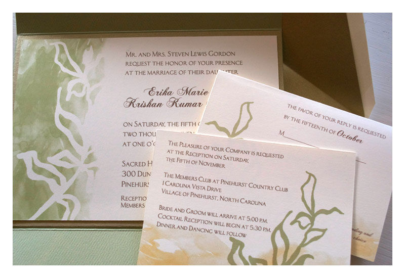 Watercolor Botanical Wedding Invitation - product images  of
