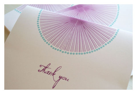 Soleil,Burst,Colorful,Thank,you,Note,Set,Paper_Goods,Stationery,stationery,thank_you_notes,sun_burts,colorful_note_cards,purple,aqua,thank_you,sparetire_design,etsy,stationery_set,note_cards,quality_materials,linen_paper,crest_paper,felt_paper