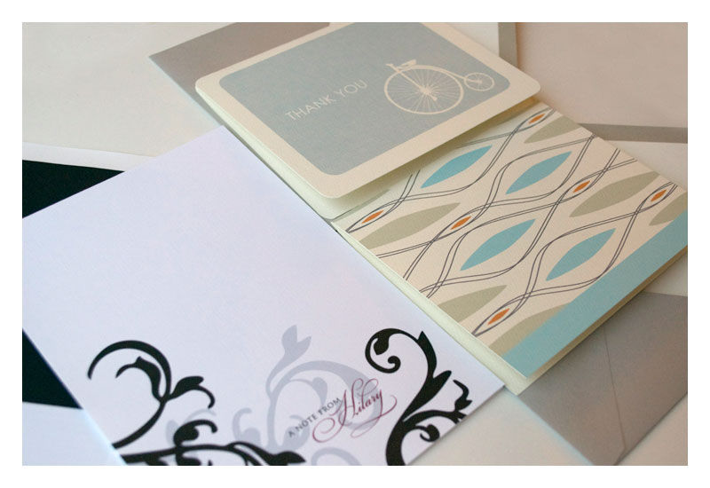 Stationery Gift Pack : 20 Note Cards 20 Personalized Flat Notes - product images  of