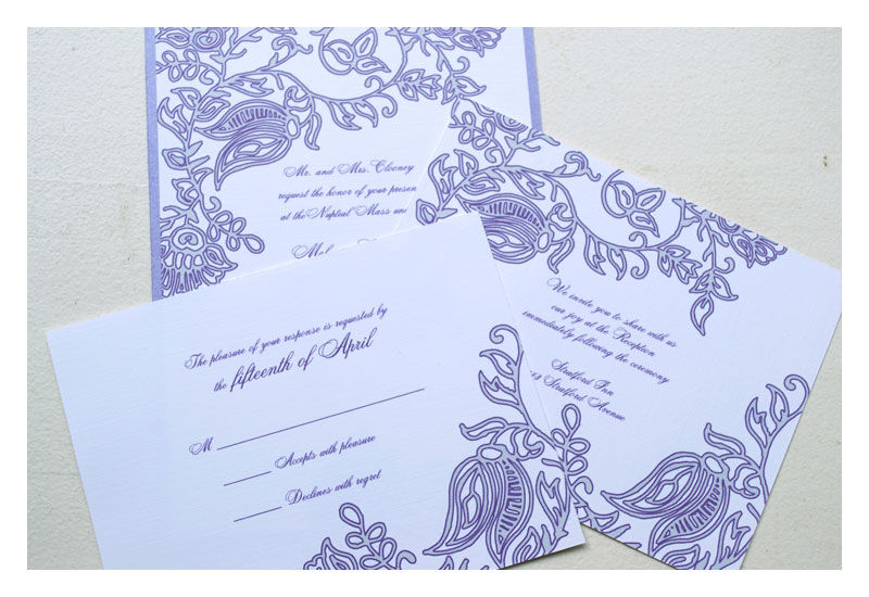 Henna Block Print Wedding Invitations