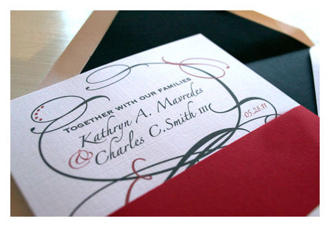 Flourish,Style,Wedding,Invitations,Weddings,Invitation,flourish design,wedding_invitation,wedding_invites,black, red, romantic, white,bold,stationery,special_event,quality_invitations,traditional_wedding,elegant,simple_invite,quality_materials