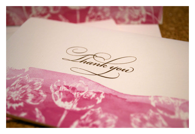 Coordinating Wedding Thank You Notes - product images  of