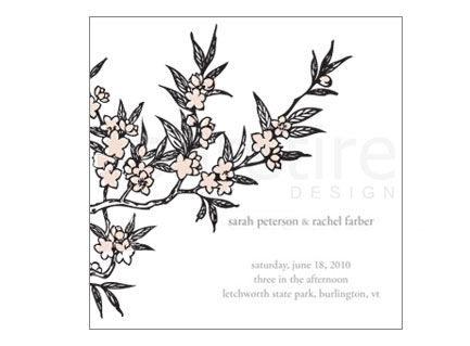 Cherry Blossom Stationery Design - product images