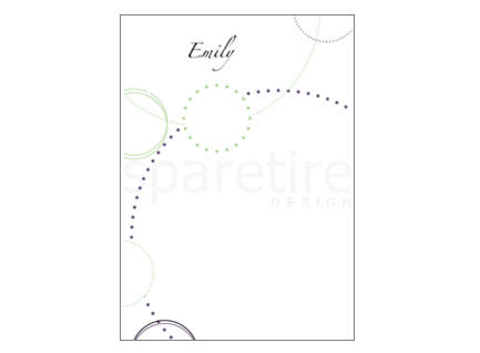 Circles and Dots Stationery Design - product images