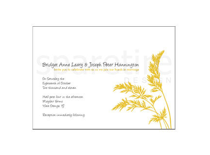 Golden Coastal Grass Stationery Design - product images