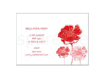 Hand Drawn Poppies Stationery Design - product images