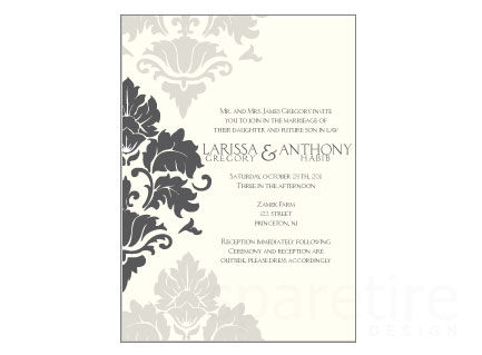 Repeat Damask Pattern Stationery Design - product images