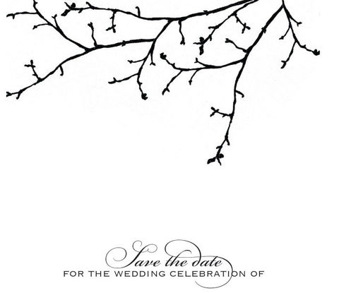 Save,the,Date,ANY,DESIGN,Weddings,Card,Save_the_Date,save_the_date,wedding,tree_branch,black,white,the_artisan_group,stationery,sparetire_design,Quality_paper,linen_paper,crest_paper,felt_paper