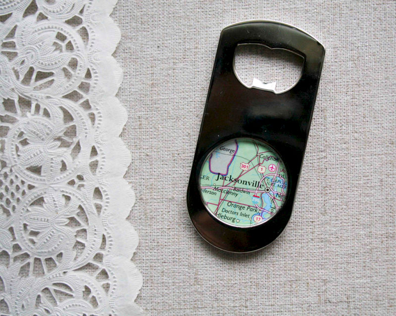 jacksonville florida map bottle opener paper place. Black Bedroom Furniture Sets. Home Design Ideas