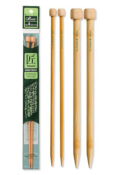Takumi Bamboo Knitting Needles Single Pointed (9 INCH) - product images