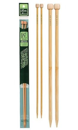 Takumi,Bamboo,Knitting,Needles,Single,Pointed,(13-14,INCH),clover,knitting needles,needlecraft,needles,crochet,supplies,kg krafts