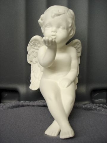 Blowing,Kisses,Cherub,Shelf,Sitter,Ready,to,Paint,Ceramic,Bisque,ceramic bisque,ready to paint,ceramics, bisque,kg krafts,cherub,shelf sitter