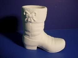 Small,Santa,Boot,5,Item,Unpainted,Ceramic,Bisque,ceramic bisque,ready to paint,ceramics, bisque,kg krafts,santa boot