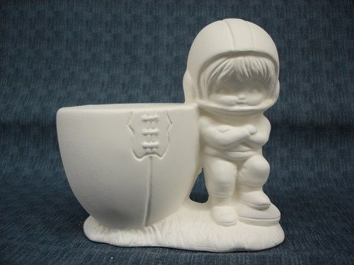 Football Player Bank Ready to Paint Ceramic Bisque - product images
