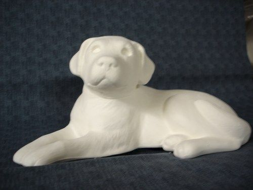 Labrador Retriever Puppy Unfinished Ceramic Bisque ready to paint - product images