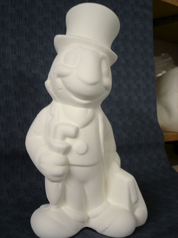 Jiminy Cricket Ceramic Unfinished Bisque ready to Paint - product images
