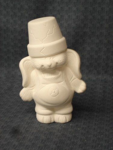 Ceramic Cracked Pot Bunny Boy Ready to Paint Bisque from Dona Molds - product image