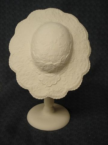 Small,Victorian,Lace,Ceramic,Bisque,Hat,Ready,to,Paint,ceramic bisque,ready to paint,ceramics, bisque,kg krafts,hat,lace hat