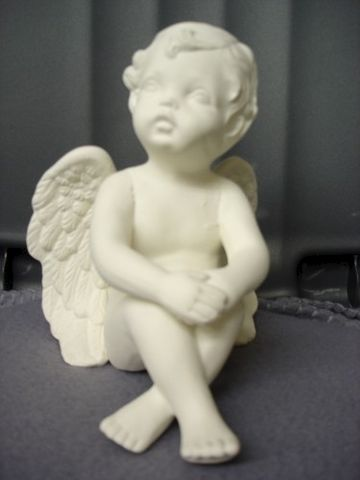 Gazing,Cherub,with,Hands,over,Knees,ceramic bisque,ready to paint,ceramics, bisque,kg krafts,cherub,shelf sitter