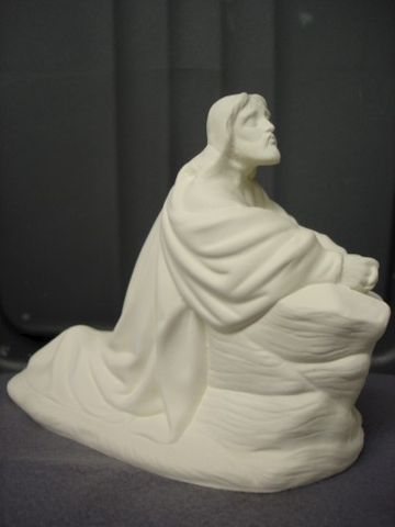 Jesus,in,the,Garden,Unpainted,Ceramic,Bisque,ceramic bisque,ready to paint,ceramics, bisque,kg krafts,religious,Jesus in the garden