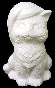 Christmas Kitten Unpainted Ceramic Bisque - product images