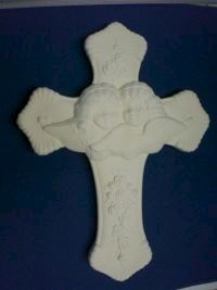 Angel,Cross,Unpainted,Ceramic,Bisque,ceramic bisque,ready to paint,ceramics, bisque,kg krafts,angel,cross