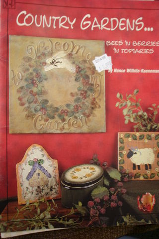 Country,Gardens,Bees,'n,Berries,Topiaries,by,Nance,Wilhite-Kueneman,country gardens bees 'n berries 'n topiaries,nance wilhite-kueneman,kg krafts,decorative painting instruction book