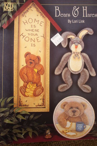 Bears,&,Hares,by,Lori,Link,Decorative,Painting,book,Bears & Hares, Lori Link ,Decorative ,instructions book,kg krafts, SGP,home decor,wood