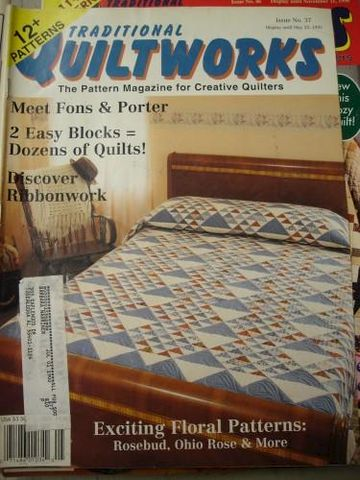 Traditional,Quiltworks,issue,no,37,1995,12,patterns,for,Quilters,traditional quiltworks, fons and porter, ribbonwork,quilts,kg krafts,sewing
