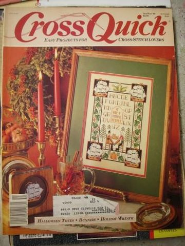 Cross,Quick,Easy,Projects,for,Stitch,Lovers,Oct/Nov,1989,cross quick, cross stitch, project, magazine, patterns