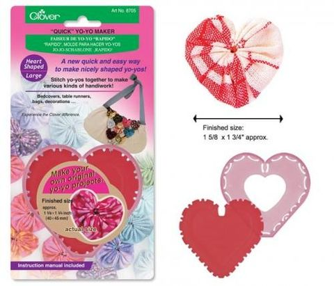 Quick,Yo-yo,Maker,Heart,Shaped,Small,clover, heart, templates, yo yo's,kg krafts,craft supplies