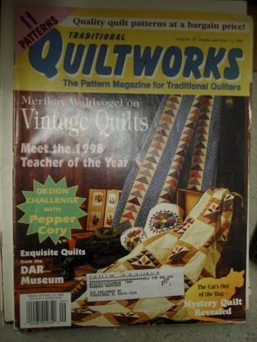 Quiltworks,Magazine,for,Traditional,Quilters,issue,no.63,Sept,1999,traditional quiltworks, magazine, patterns, quilting,quilts,kg krafts