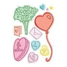 Cuttlebug A2 Combo Embossing  Die Set  LOVE ALWAYS - product images